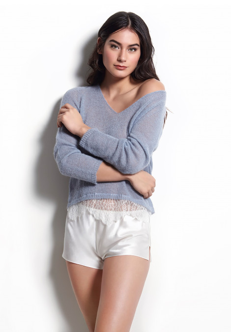 Pullover in Mohair and Alpaca