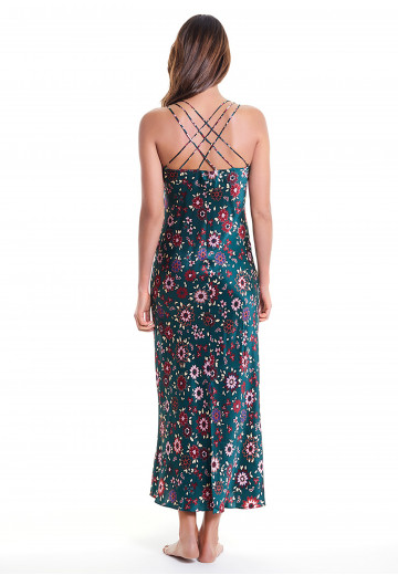 Printed Silk Negligee