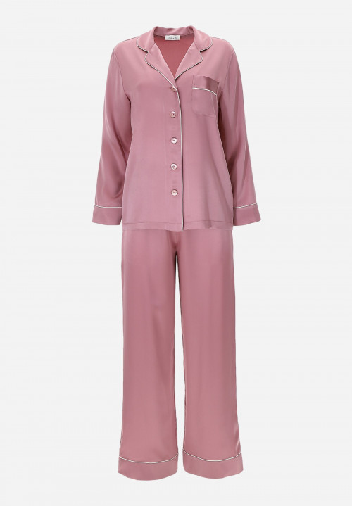 Silk Pyjama With Contrasting Detail