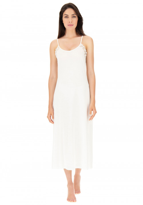 Modal negligee with embroidery