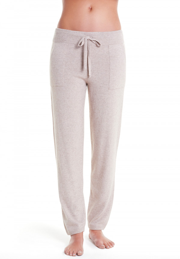 Pantaloni In Lana/Cashmere Con Coulisse