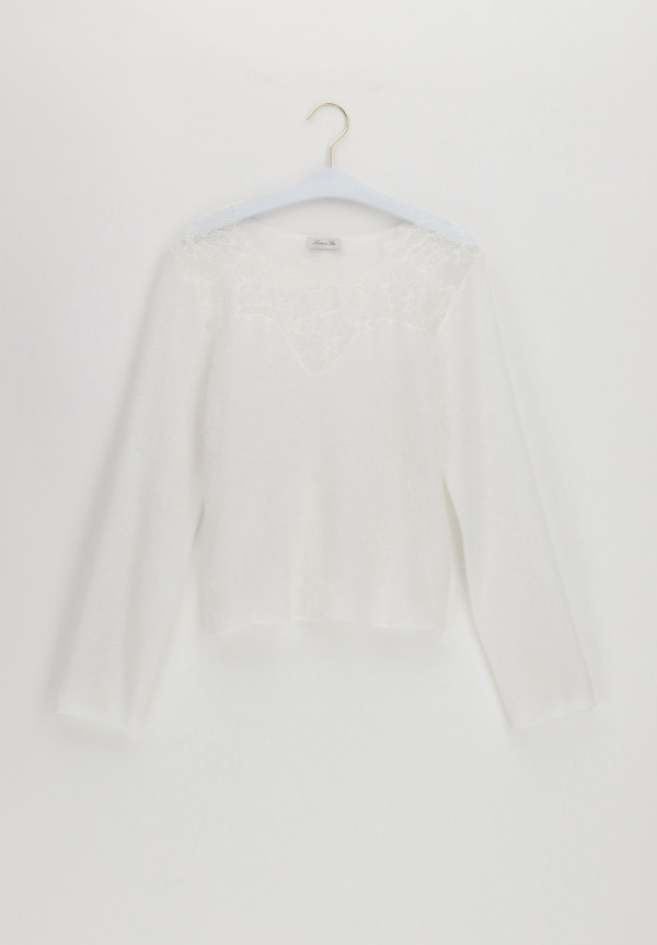 Pullover in Mohair e Pizzo Knitwear
