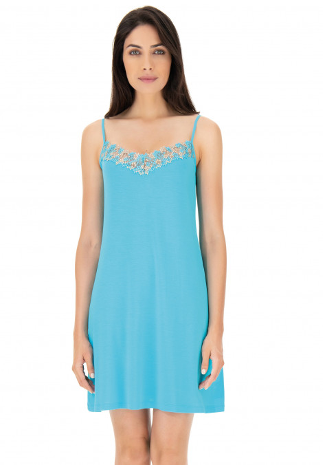 Modal chemise with embroidery