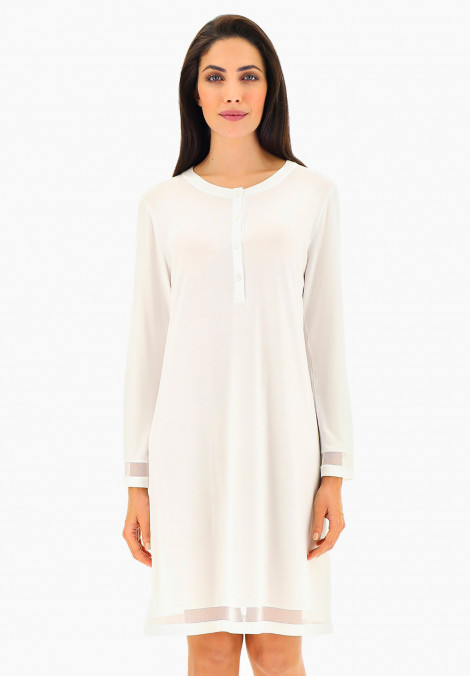 Modal Jersey Nightdress with tulle inserts