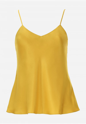 Silk Top with Thin Shoulder Straps