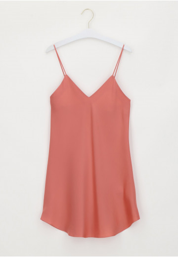 Parisienne In Silk With Rounded Hem