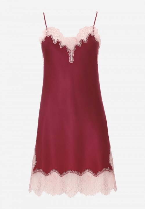 Silk Chemise With Jagged Lace