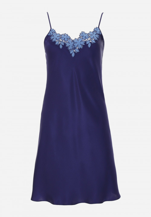 Silk Chemise With Embroidery