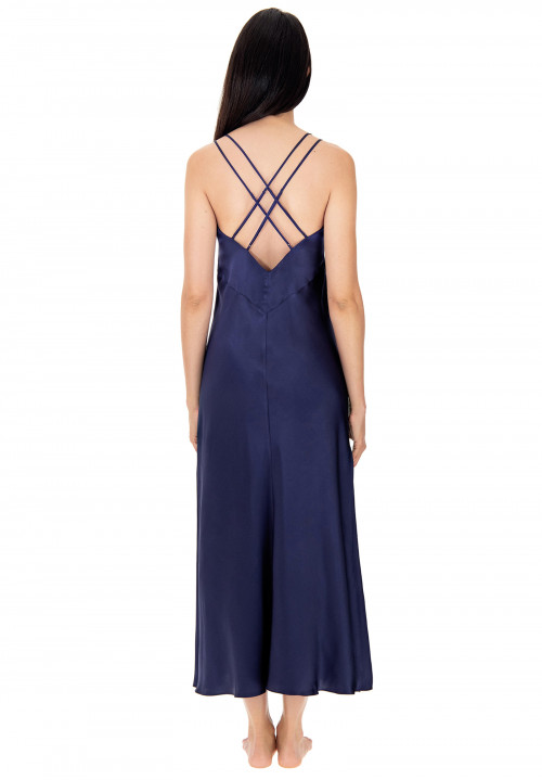 Silk negligee with thin straps