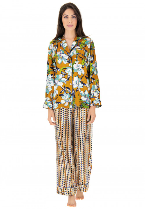 Printed silk pyjamas