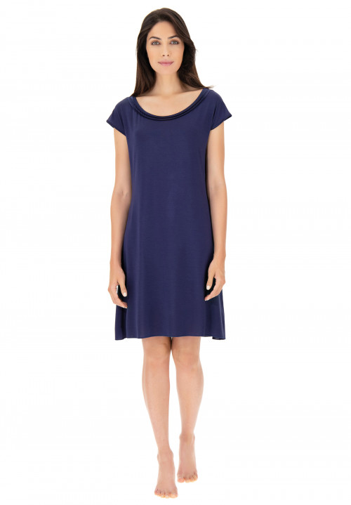 Modal chemise with satin edging